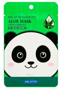 Маска на тканевой основе для лица с экстрактом алоэ FASHIONY ALOE MASK SHEET (Renewal) MILATTE