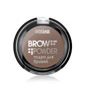 "Пудра для бровей тон 02 Soft Brown ""BROW POWDER"" LUXVISAGE"