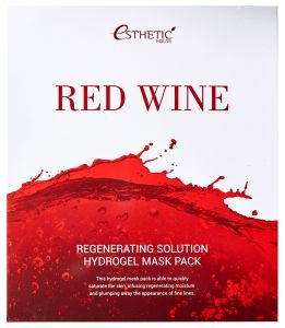 Гидрогелевая маска для лица RED WINE REGENERATING SOLUTION HYDROGEL MASK PACK ESTHETIC HOUSE