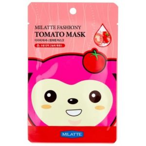 Маска на тканевой основе для лица томатная FASHIONY TOMATO MASK SHEET MILATTE