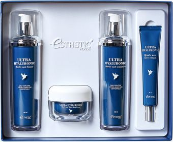 Набор для ухода Ласточкино гнездо Ultra Hyaluronic acid Bird's nest skin care set ESTHETIC HOUSE
